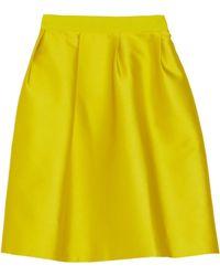 Giambattista Valli Mikado Silk and Cotton-blend Skirt - Lyst