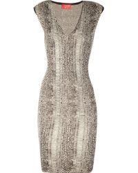 Lanvin Serpent Knitted Silk-Blend Dress - Lyst