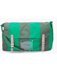 Marc By Marc Jacobs Green Striped Flasher Messenger Bag - Lyst
