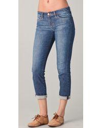 Joe's Jeans Rolled Crop Skinny Jeans - Lyst