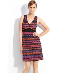 M Missoni Surf Wave Knit Dress - Lyst
