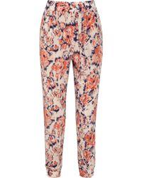 Tucker - Printed Silk Trousers - Lyst
