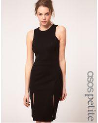 ASOS Collection Asos Petite Exclusive Pencil Dress with Double Split Detail - Lyst