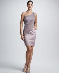 Julian Joyce By Mandalay - One-shoulder Beaded Lace Dress - Lyst