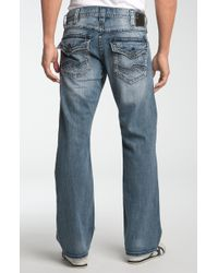 Silver jeans co. Zac Relaxed Straight Leg Jeans in Blue for Men | Lyst