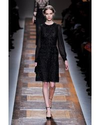 Valentino Fall 2012 Embellished Dress with Chiffon Sleeves - Lyst