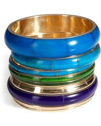 Antik Batik - Aqua/gold Bracelet Set - Lyst