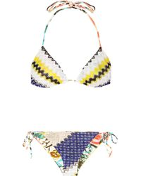 Missoni Positano Reversible Crochet-knit Triangle Bikini - Lyst