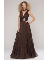 Oscar de la Renta Sleeveless Gown - Lyst