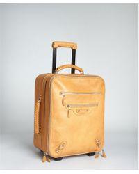 Balenciaga - Camel Leather Carryon - Lyst