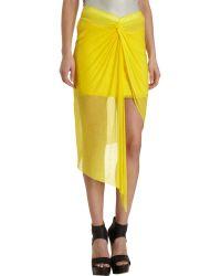 Helmut Lang Wrap Front Skirt - Lyst