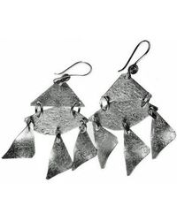 Chic Jewel Couture Iberia Earrings Silver - Lyst