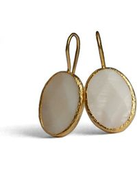 Toosis Mother Of Pearl Oval Earrings - Lyst