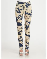 3.1 Phillip Lim Skirtback Printed Silk Trousers - Lyst