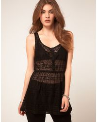 ASOS Collection Asos Tunic in Crochet - Lyst