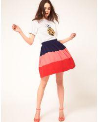 Boutique By Jaeger  Colour Block Skirt - Lyst