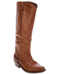 Golden Goose Deluxe Brand Calf Leather Cowboy Boot brown - Lyst