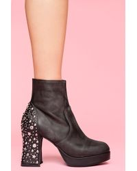 Nasty Gal Orion Studded Boot - Lyst