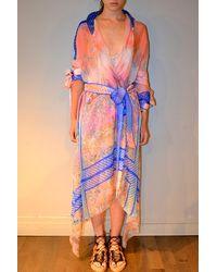 Jen Kao | Silk Chiffon Anatersasa Kimono Dress | Lyst