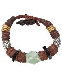 KD2024 - Leather Beaded Bracelet - Lyst