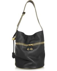 Alexander McQueen - Padlock Leather Bucket Bag - Lyst