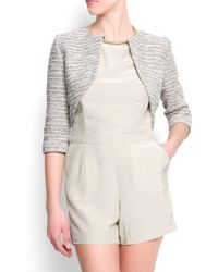 Mango Short Jacket - Lyst