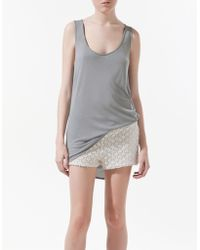 Zara Vest Top with Asymmetric Hem - Lyst