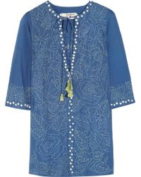 Easton Pearson Amea Kuta Embroidered Cotton Kaftan - Lyst