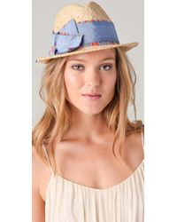 Juicy Couture - Cropped Fedora with Exaggerated Bow - Lyst
