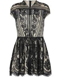 Lover Wiccan Lace Mini Dress black - Lyst