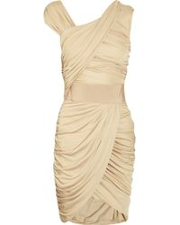 Giambattista Valli Draped Jersey Dress beige - Lyst