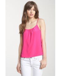 Juicy Couture Ruched Silk Camisole - Lyst