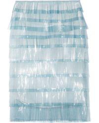 Marc Jacobs Elsa Fringed Tulle Skirt blue - Lyst