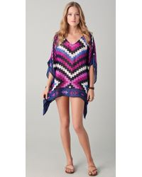 Theodora & Callum - Serengeti Scarf Cover Up - Lyst