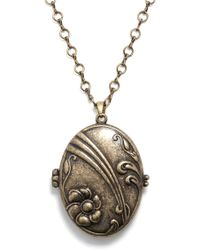 ModCloth Locket Me Now Necklace - Lyst