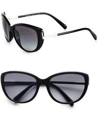 Prada Cateye Sunglasses black - Lyst