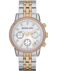Michael Kors Ritz Chronograph Watch Light Tricolor - Lyst