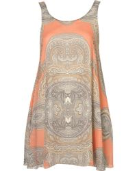 Topshop Paisley Dress By Love - Lyst