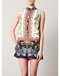 D&G Silk Border Print Allinone - Lyst