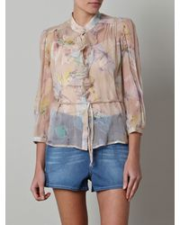 D&G Butterflyprint Blouse - Lyst