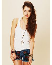 Free People Guipil Rodeo Cutoff Shorts - Lyst