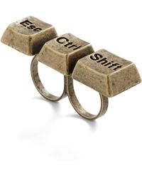 ModCloth - Style Is Keyboard Ring - Lyst
