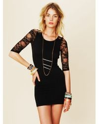 Free People Open Back Lace Tunic - Lyst