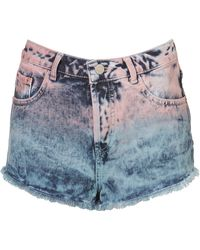 Moto Dip Dyed Hotpants - Lyst
