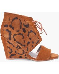 Surface To Air - Leopard Print Nuke Wedges - Lyst