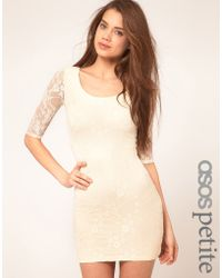 ASOS Collection Asos Petite Exclusive Lace Dress with Cut Out Back Detail - Lyst