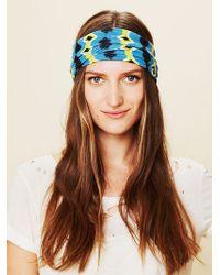 Free People Aztec Wide Headband - Lyst