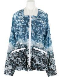 Alexander Wang Double Zip Front Floral Printed Wind Breaker Jacket in Polyamide - Lyst