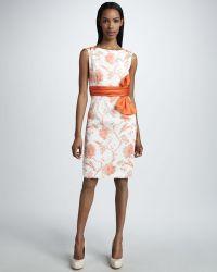 Bigio Collection - Bow Waist Floral Dress - Lyst