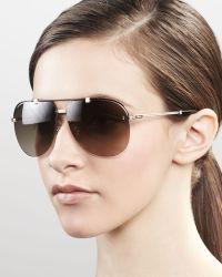 Dior Croisette Aviator Sunglasses Gold - Lyst